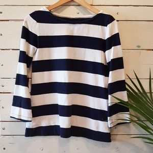 J. Crew top with small side zip XS